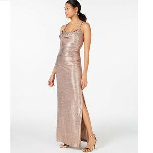 Nightway 10 Rose Gold Sleeveless Gown NWT BV75